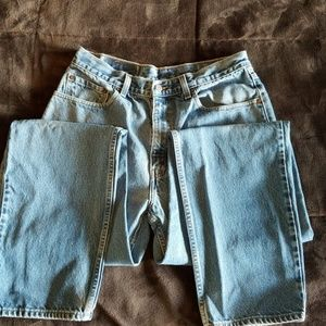 Levi Strauss Relaxed Straight leg blue jeans.
